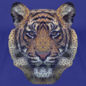Polygon Tiger Transparent T-Shirts - Women's Premium T-Shirt