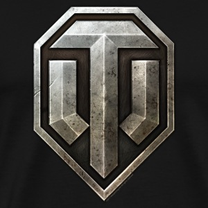 World of Tanks Metal Logo Men T-Shirt - Premium T-skjorte for menn
