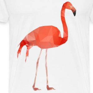Flamingo Low Poly T-Shirts - Männer Premium T-Shirt