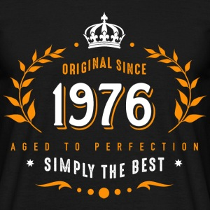original since 1976 simply the best 40th birthday - Männer T-Shirt