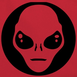 alien face circle Bags & Backpacks - Retro Bag