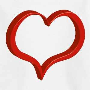 red heart T-Shirts - Teenager T-Shirt