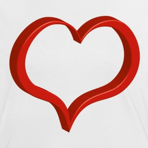 red heart T-Shirts - Women's Ringer T-Shirt