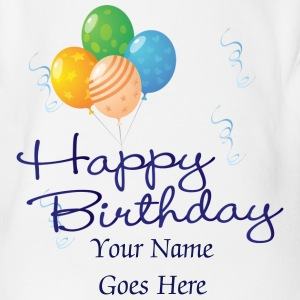 Happy Birthday Baby All In One - Organic Short-sleeved Baby Bodysuit