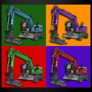 Earthmoving-PopArt Mugs & Drinkware - Full Colour Mug