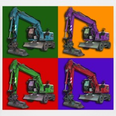 Earthmoving-PopArt Shirts