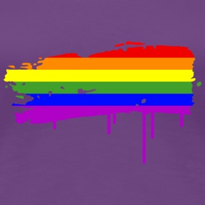 Rainbow Flag Graffiti T-Shirts - Women's Premium T-Shirt