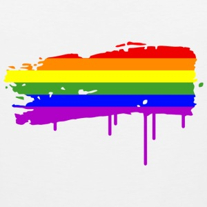 Rainbow Flag Graffiti Tank Tops - Men's Premium Tank Top