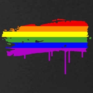 Rainbow Flag Graffiti T-Shirts - Men's V-Neck T-Shirt