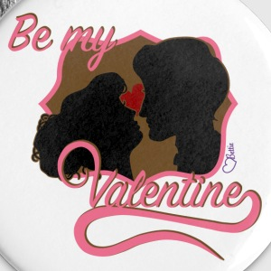 Be my Valentine Silouhett Buttons & Anstecker - Buttons groß 56 mm