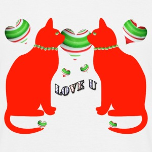 Red cats love u - T-shirt Homme