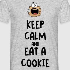 Keep calm and eat a cookie tshirt - T-shirt Homme