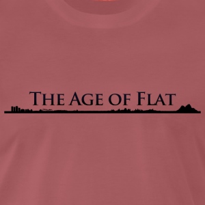 The Age of Flat - Earth contour T-Shirts - Männer Premium T-Shirt