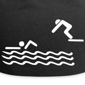 swimmer, swimming Caps & Hats - Jersey Beanie
