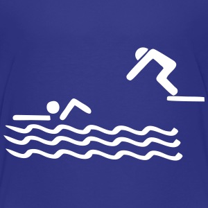 swimmer, swimming Shirts - Kids' Premium T-Shirt