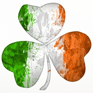 Irish Flag Clover Grunge  - Coasters (set of 4)
