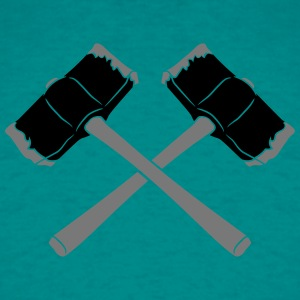 2 crossed hammers hammer strike weapon hew smash h T-Shirts - Men's T-Shirt
