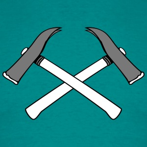2 crossed hammers hammer handyman craftsman nailin T-Shirts - Men's T-Shirt