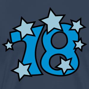"""Geburtstag T-Shirts mit """"18 mit Sternchen"""""""