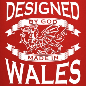 Designed by God - Wales M  Aprons - Cooking Apron