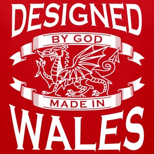 Designed by God - Wales M Tank Tops - Men's Premium Tank Top
