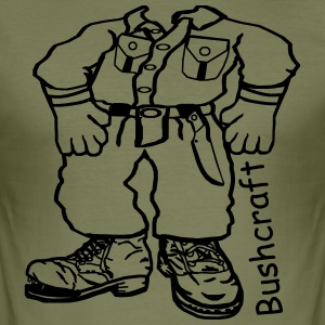 Bushcrafter Comic T-Shirts - Männer Slim Fit T-Shirt
