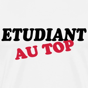 Etudiant au top T-shirts - Herre premium T-shirt