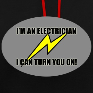Electrician turn you on - Contrast Colour Hoodie