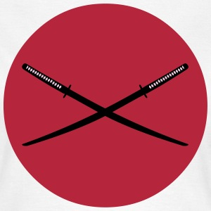 Crossed Japanese Katana T-Shirts - Women's T-Shirt