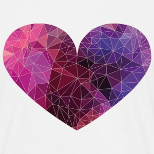 Polygon Heart Strokes T-Shirts - Men's T-Shirt