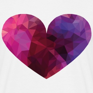 Polygon Heart T-Shirts - Men's T-Shirt
