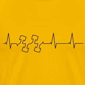 Heartbeat engine pistons T-Shirts - Men's Premium T-Shirt