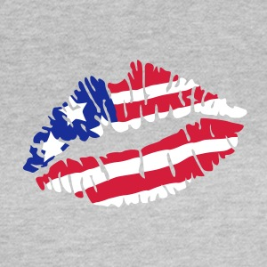Kiss USA amerikanische Flagge T-Shirts - Frauen T-Shirt