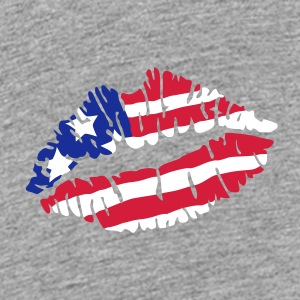 Kiss America flag Shirts - Teenage Premium T-Shirt