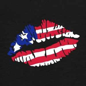 Kiss America flag Long Sleeve Shirts - Teenagers' Premium Longsleeve Shirt