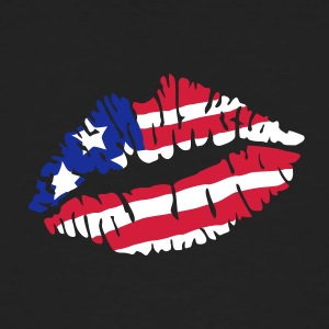 Kiss America flag T-Shirts - Men's Organic T-shirt