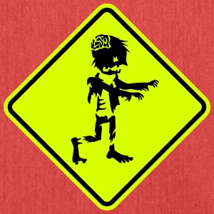 zombie road sign Bags & Backpacks - Shoulder Bag made from recycled material