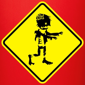 zombie road sign Mugs & Drinkware - Full Colour Mug