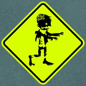 zombie road sign T-Shirts - Men's V-Neck T-Shirt