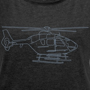 Helicopter T-Shirts - Women's T-shirt with rolled up sleeves