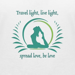Travel light, live light, spread love, be love! - Frauen T-Shirt mit V-Ausschnitt