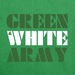 Green And White Army shoulder bag - Shoulder Bag made from recycled material