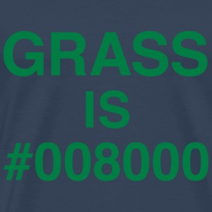 Grass is #008000 T-Shirts - Men's Premium T-Shirt