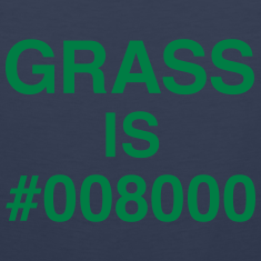 Grass is #008000 Tank Tops