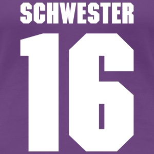 Schwester 16 Teamplayer T-Shirts - Frauen Premium T-Shirt