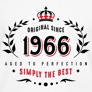original since 1966 simply the best 50th birthday - Männer Kontrast-T-Shirt