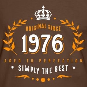original since 1976 simply the best 40th birthday - Männer Kontrast-T-Shirt