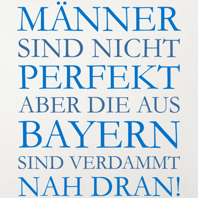 Männer aus Bayern (Blau) Kissenbezug