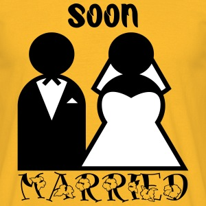 Soon married by Claudia-Moda - Herre-T-shirt