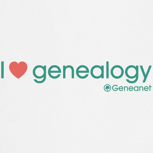 Tablier - I love genealogy